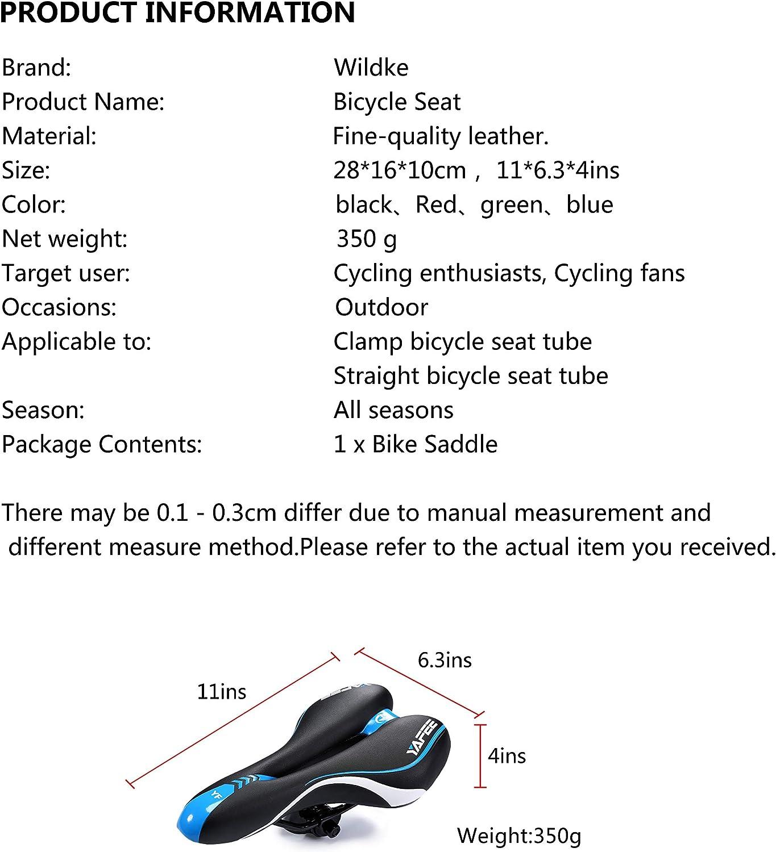 Rennrad Falt Fahrrad 280x150 mm Asvert Fahrrad Sattel Professional MTB Fahrrad Sitz sto/ßfest Ergonomisches Design f/ür Radfahren MTB