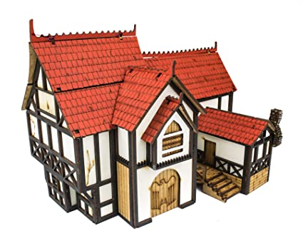 Amazon com: War World Gaming Medieval Town Manor House – 28mm