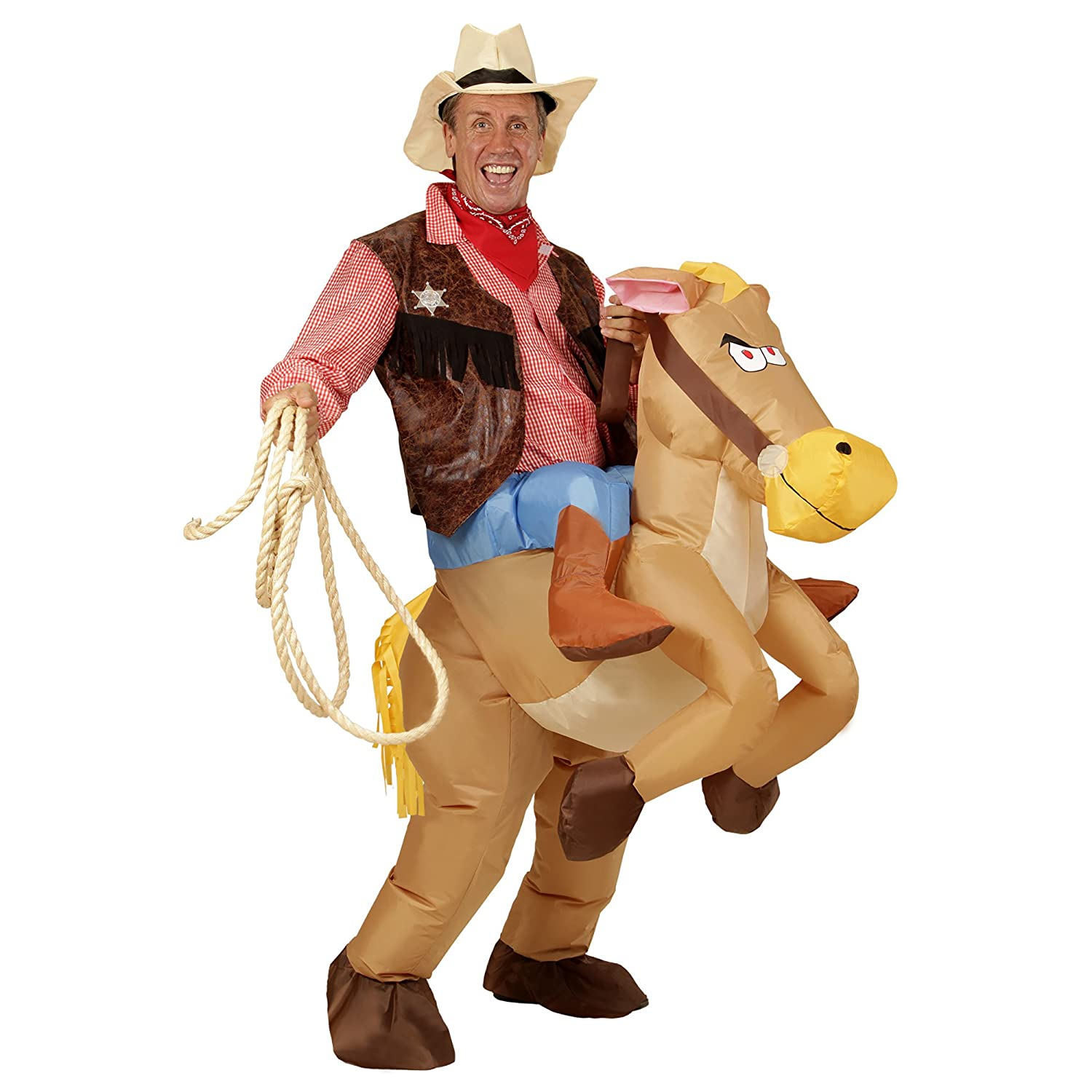 WIDMANN 75504 hinchable Disfraz Caballo, One size: Amazon.es ...