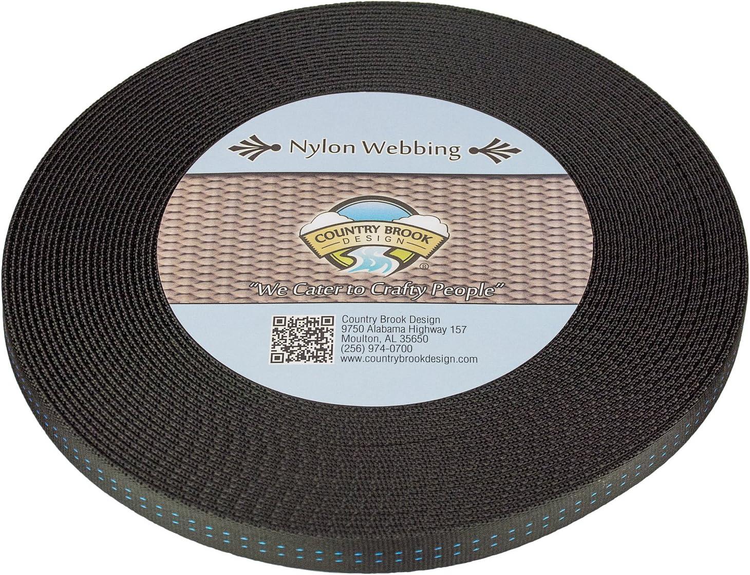 Military Spec Tubular Nylon Webbing Country Brook Design Black, 5//8 Inch