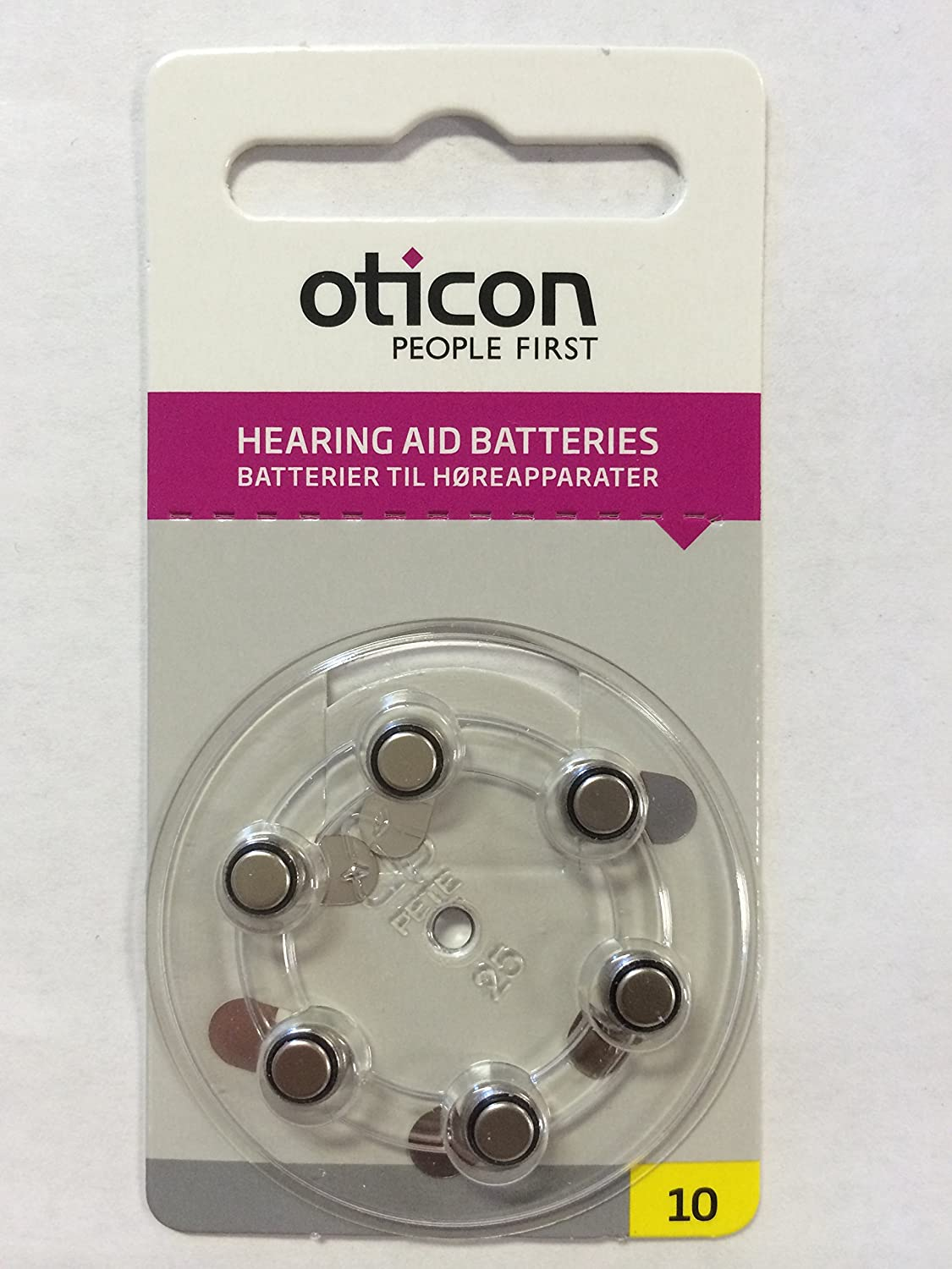 Amazon.com: Oticon Hearing Aid Batteries Size 312 (6 pack): Health ...