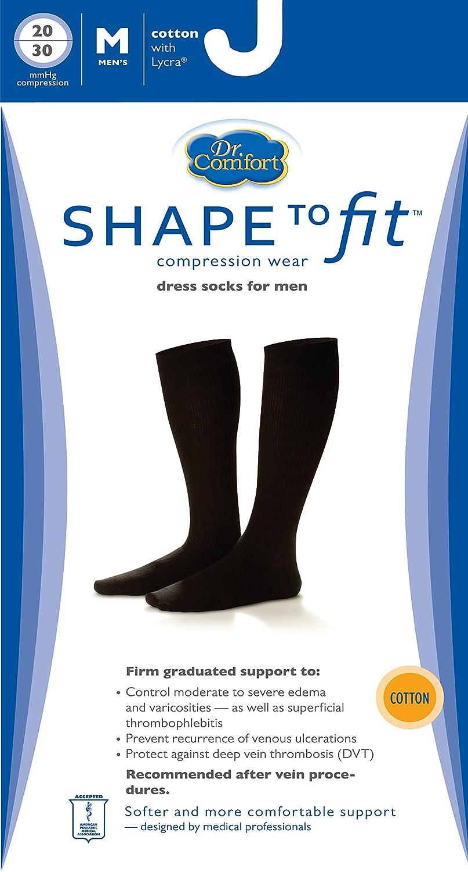 ae519352fb4 Amazon.com  Dr. Comfort Men s Cotton Dress Graduated Compression Knee-High  Sock