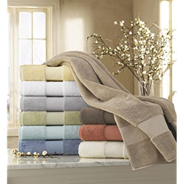 Kassatex Ottoman Elegance Collection Towels, Hand Towel - Thyme