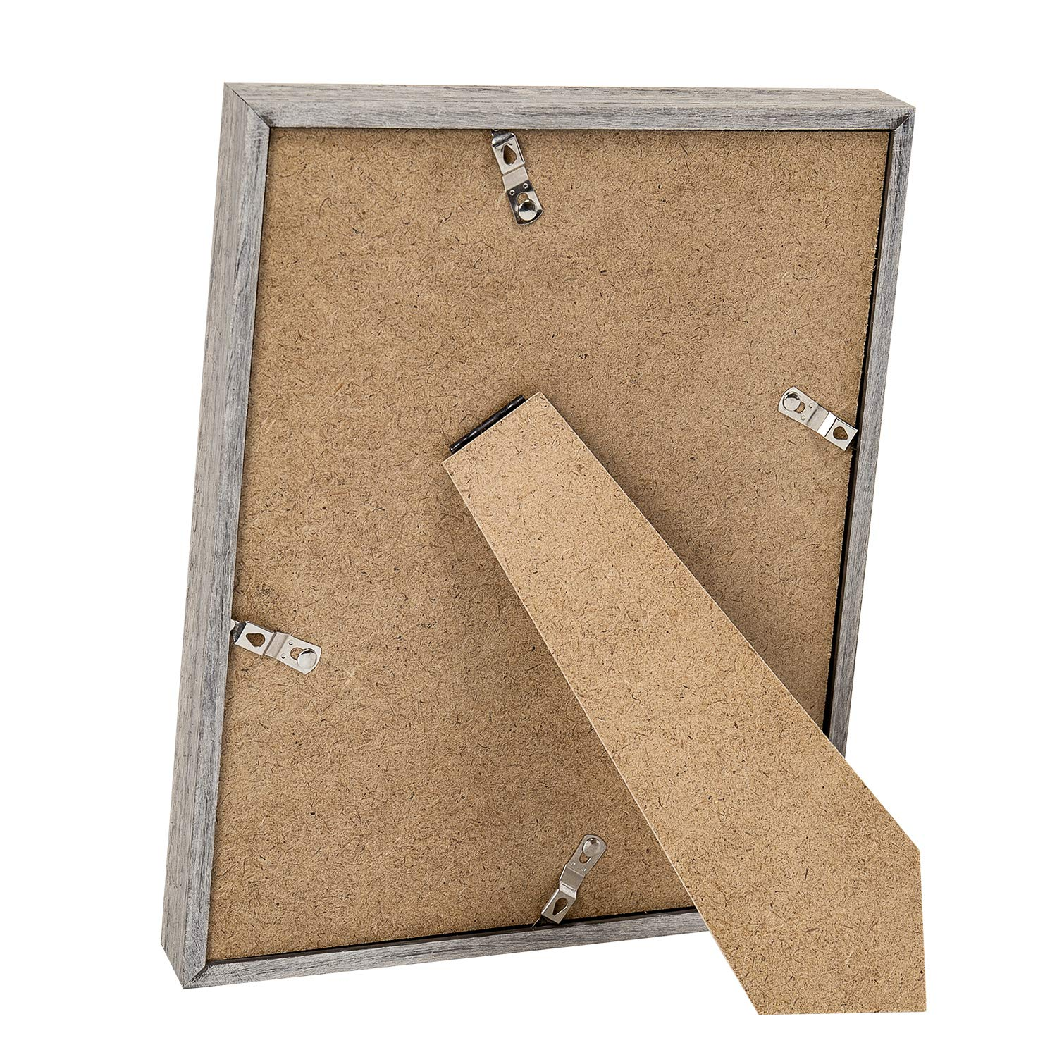 upsimples 8x10 Picture Frame with Real Glass and Mat,Rustic Photo Frames for Wall or Tabletop Display,Set of 5 by upsimples (Image #5)