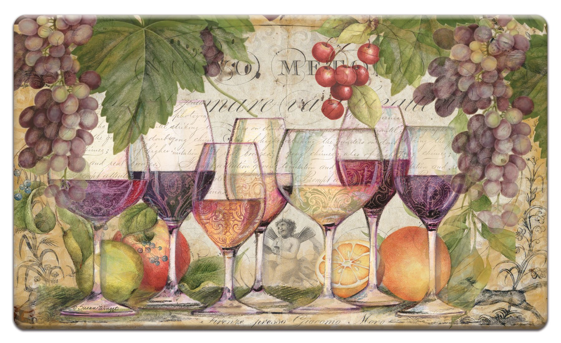 Counter Art 'Wine Country' Anti Fatigue Floor Mat, 30 x 20''