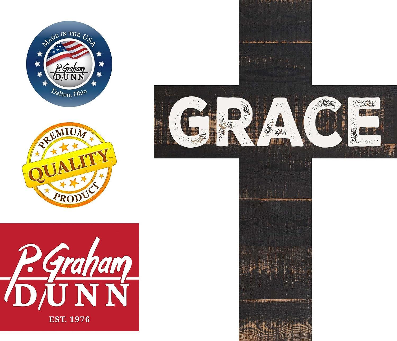 P Graham Dunn Grace Rustic Panel 7 x 5 Wood Wall Art Cross Plaque