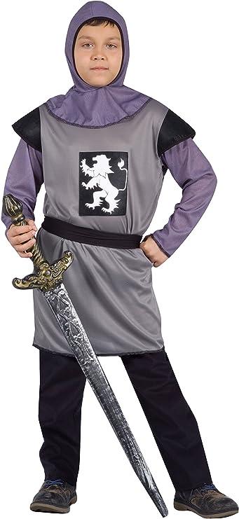 FIORI PAOLO – Disfraz caballero medieval niño M (5-7 anni) gris ...