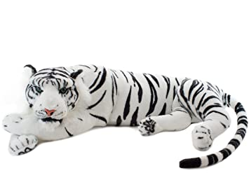 BRUBAKER White Tiger 24 Inch - Plush Toy - Soft Toy - Stuffed Animal