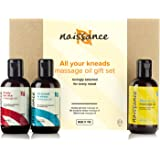 Naissance 'All Your Kneads' Massage Oil Favourites Gift Set for Any Occasion - with Sensual, Relaxing & Aches & Pains Massage Oils