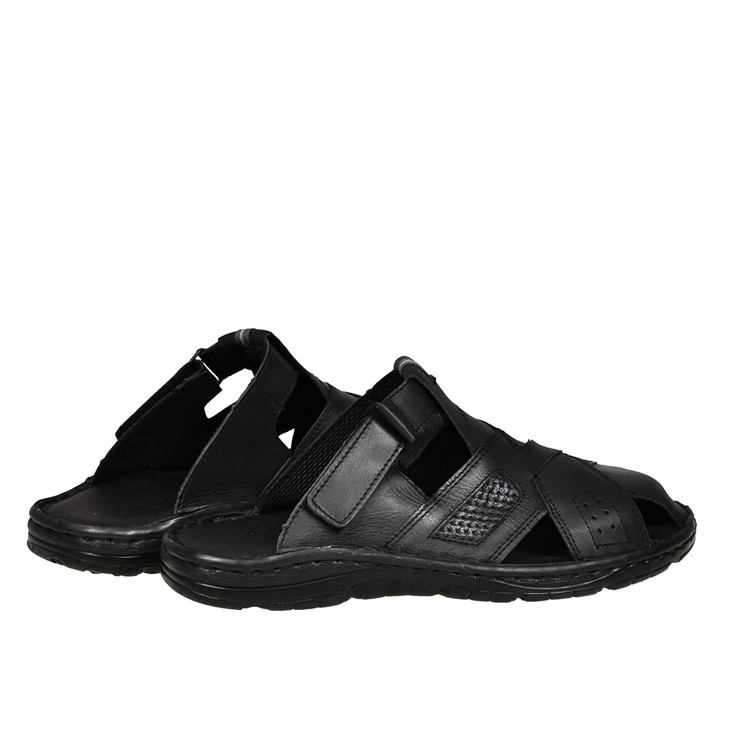 5cc41bfd4817 Lukpol Genuine Buffalo Leather Mens Sandals Shoes Comfy Orthopedic Footwear  Model-868  Amazon.co.uk  Shoes   Bags