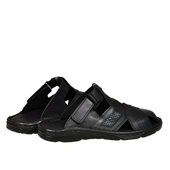 39fdf3ad1d0 Lukpol Genuine Buffalo Leather Mens Sandals Shoes Comfy Orthopedic Footwear  Model-868  Amazon.co.uk  Shoes   Bags