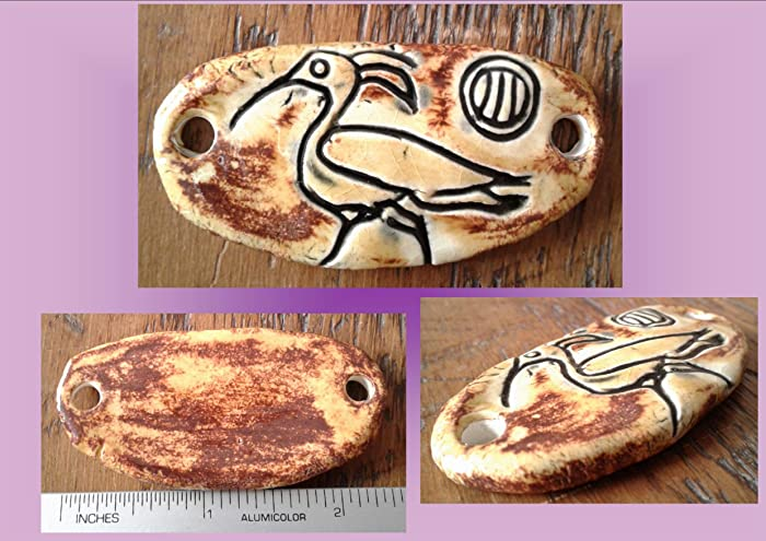Amazon com: Ibis Pendant Egyptian Amulet Sandstone Ceramic