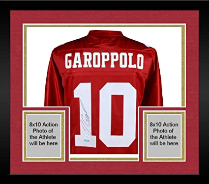 low priced 41c80 7c6f2 Framed Jimmy Garoppolo San Francisco 49ers Autographed Red ...