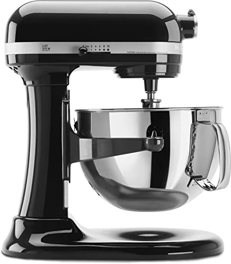 Amazon Com Kitchenaid Kp26m1xob 6 Qt Professional 600 Series Bowl Lift Stand Mixer Onyx Black Electric Stand Mixers Kitchen Dining