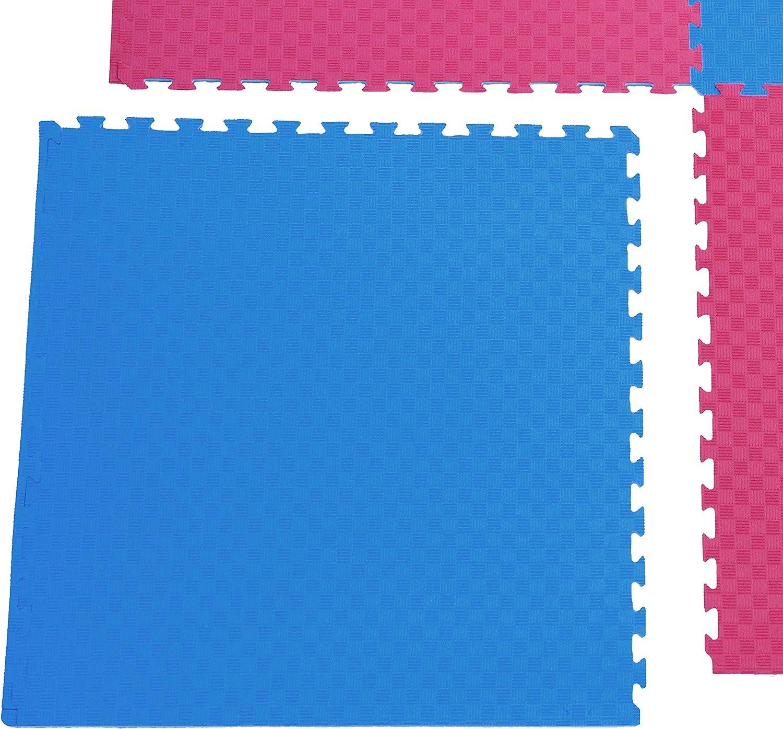 Judomatten Fitnessmatten 100 x 100 x 4cm Blau//Rot 5x Kampfsportmatten