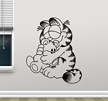 New Cartoon White Cat Wall Decal Kids Baby Room Mural Wall Sticker Home Decor