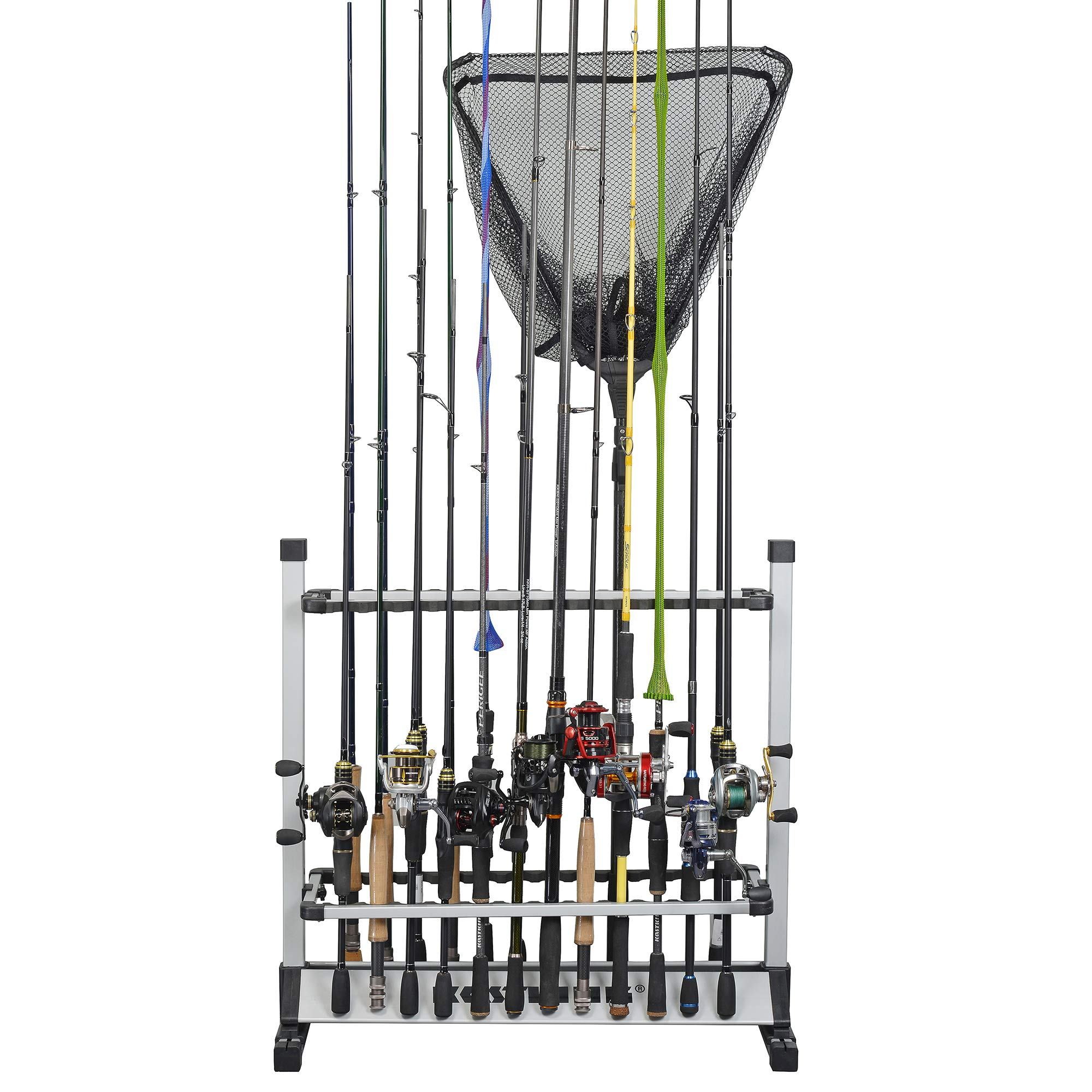 KastKing Fishing Rod Holder, 24 Rods Rack Silver Black by KastKing (Image #3)