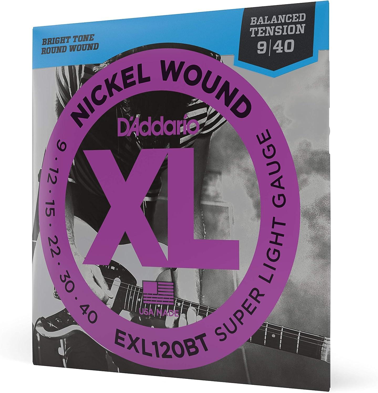 D'Addario EXL110W, cuerdas con entorchado en níquel para guitarra eléctrica, regular blandas, 3ra cuerda entorchada, 10-46