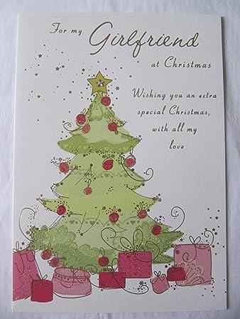Christmas cards Große Glitzer beschichtet & Jewels für My Girlfriend ...