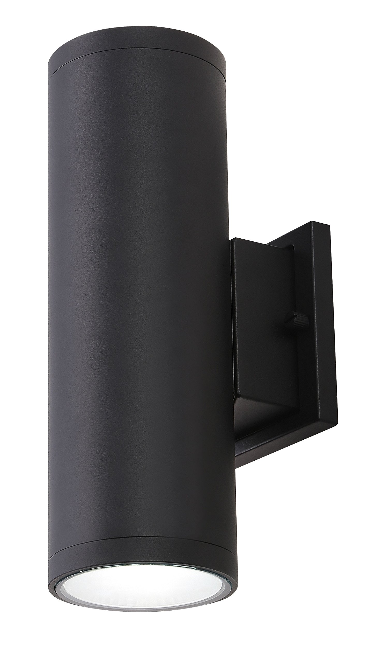 Cloudy Bay LOWLUD418850BK LED outdoor wall fixture,18W 1260lumens 5000K daylight,Up and down porch light,Black
