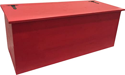 Amico Legno - Baúl con bisagra exterior, cód. 10, 80 x 45 x 47 cm, Smalto Ad Acqua Colore Rosso: Amazon.es: Jardín