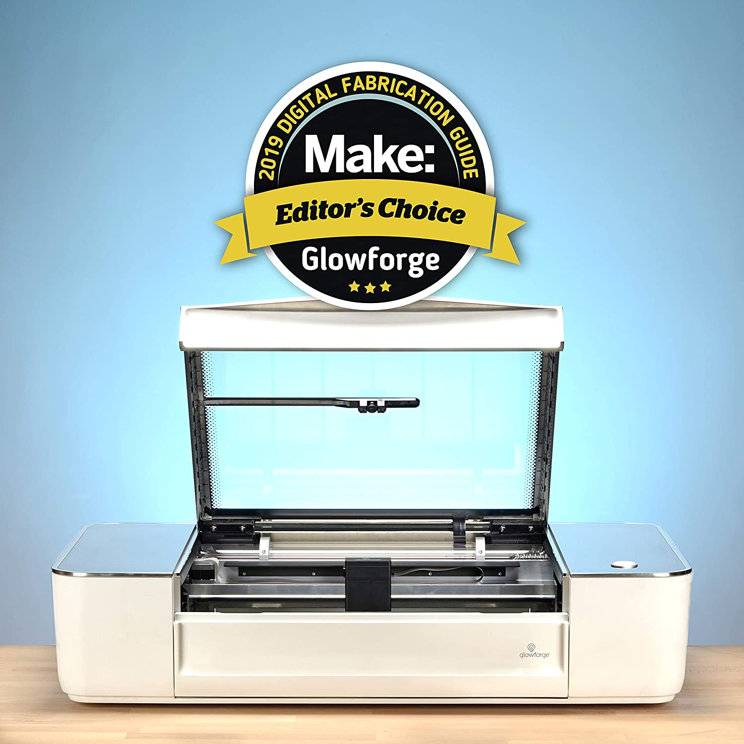 Glowforge Plus 3D Laser Printer – The Fast, Easy, and Powerful Tool for  Wood, Leather, Craft, Paper, Fabric, and DIY  The Ultimate Hobby Laser  Cutting