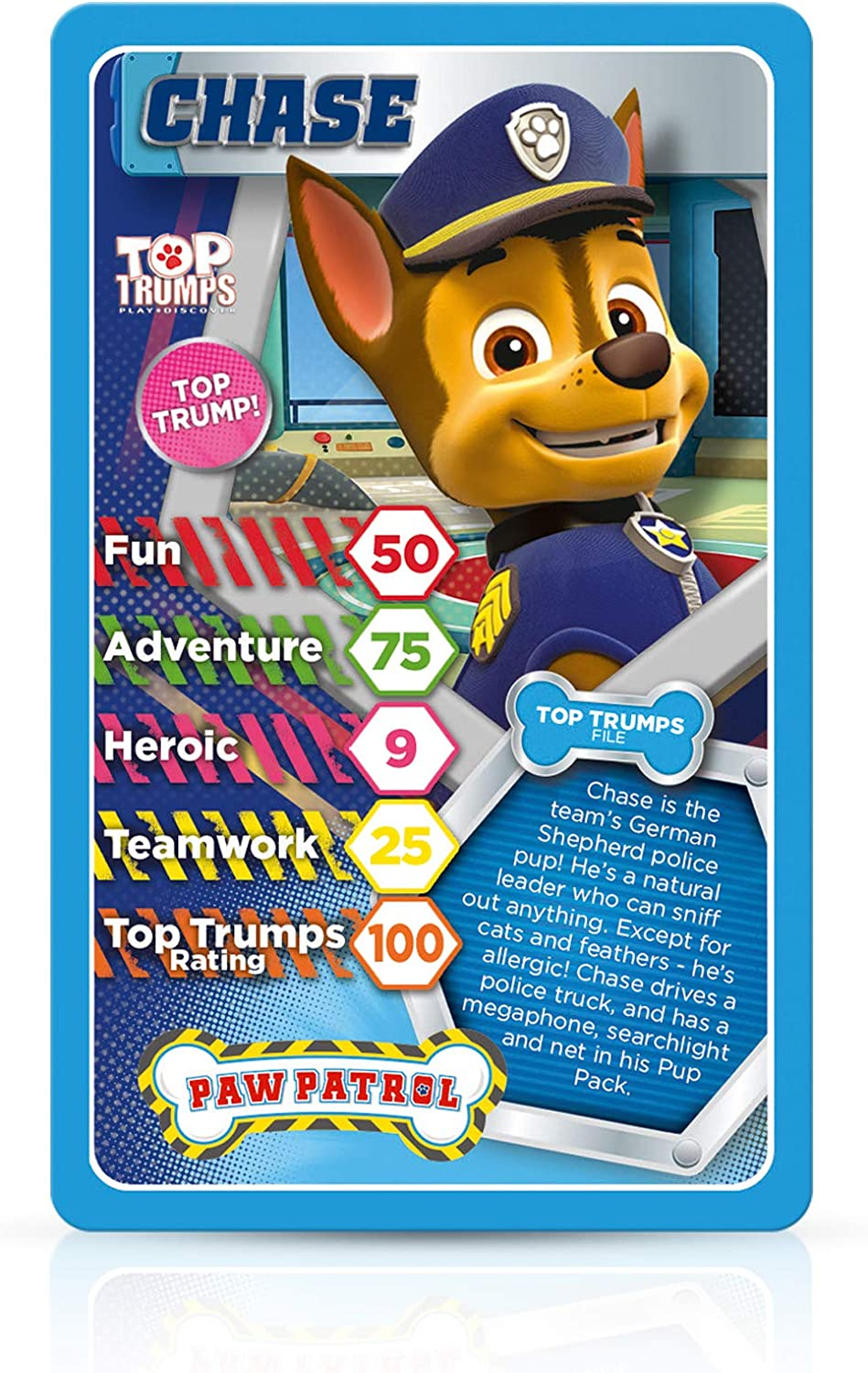 Paw Patrol Whose The Greatest Card Game TOP TRUMPS