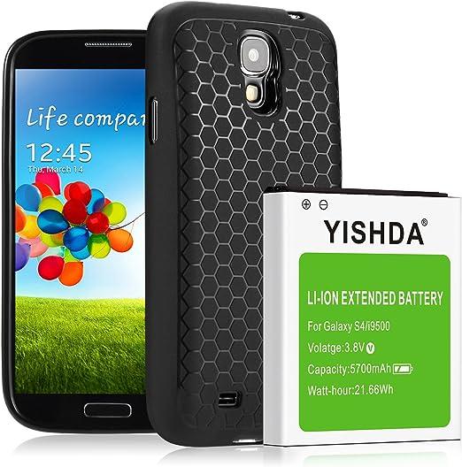 Yishda de remplacement de batterie Samsung Galaxy S4 | batterie Li-Ion pour le Galaxy S4 | S4 batterie de rechange [18 mois de garantie], 5700mAh [ ...