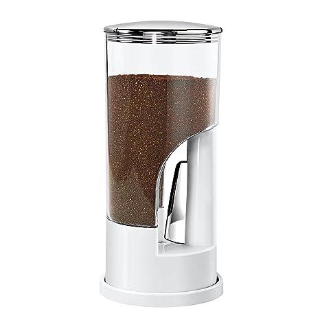 Honey Can Do Indispensable Dispensador de Café, Acero Inoxidable, Blanco y Cromado, 11.43