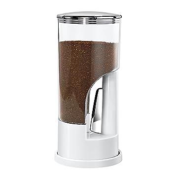 Honey Can Do Indispensable Dispensador de Café, Acero Inoxidable, Blanco y Cromado, 11.43x11.43x26.67 cm: Amazon.es