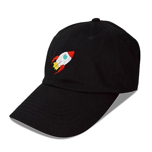 48258bb9126 DALIX Rocket Hat Space Dad Caps Embroidered Custom Cap Cotton Hats NASA  Black