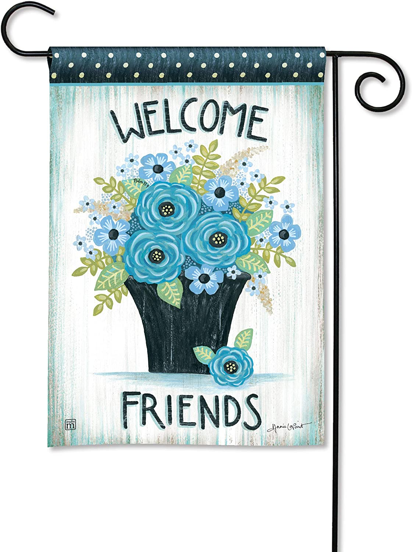 BreezeArt Studio M Welcome Friends Decorative Garden Flag – Premium Quality, 12.5 x 18 Inches