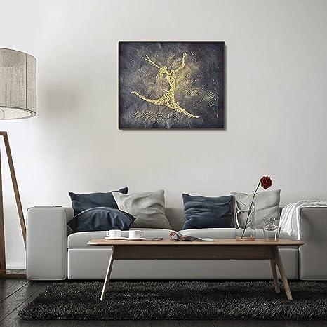 Raybre art® moderni quadri astratti a olio con pennello tabelle ...