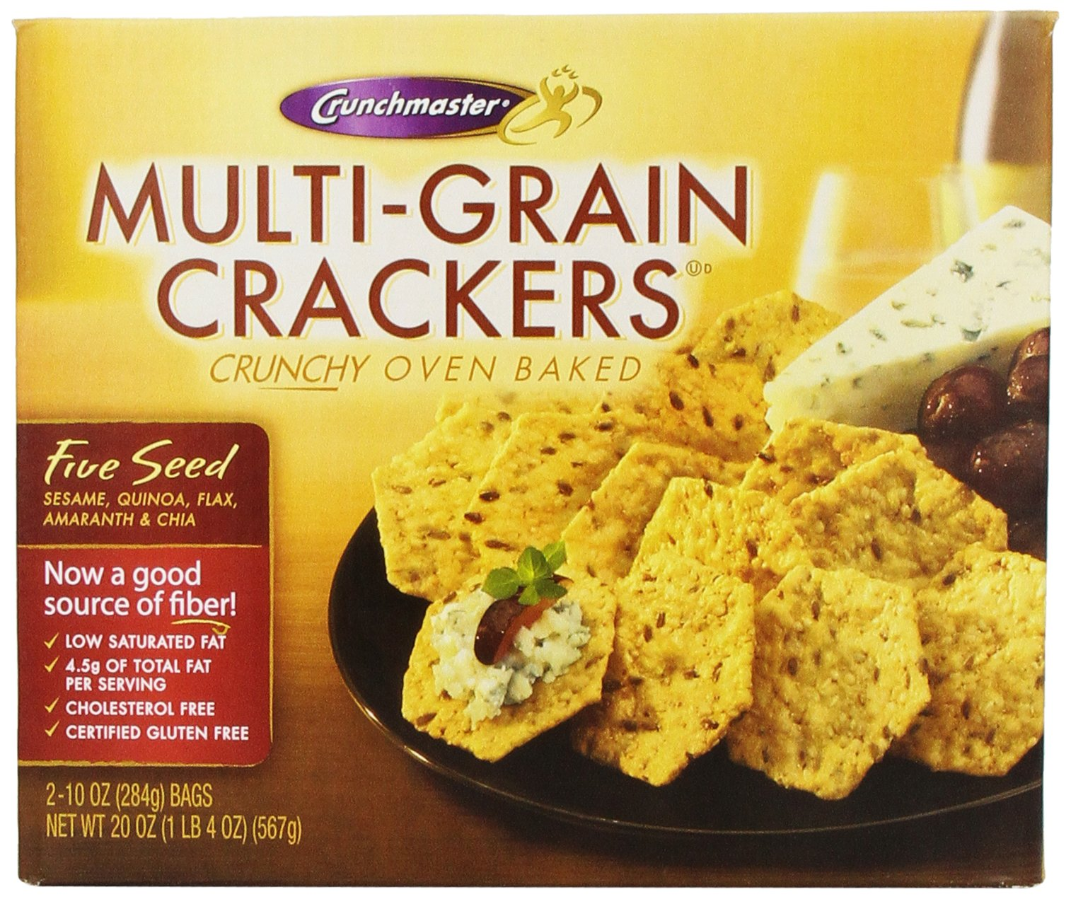 Multi-grain Crackers Crunchy Oven Baked 20 Oz.