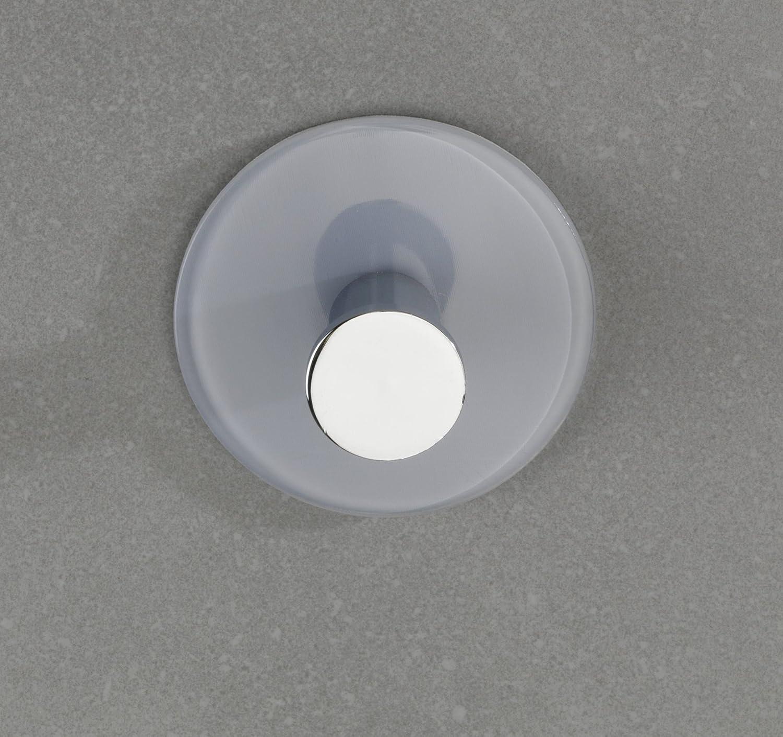 Grau Kleiderhaken Acryl Wenko Wandhaken Tamo Handtuch-Haken 6 x 6 x 3 cm Selbstklebend