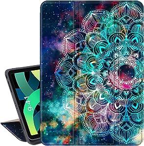 Lamcase for New iPad 10.9 inch (iPad Air 4th Generation 2020), iPad Pro 11 inch 2018 Release Smart Case with Apple Pencil Holder Slim Folio Stand Auto Sleep/Wake Soft TPU Back Cover, Mandala/Galaxy