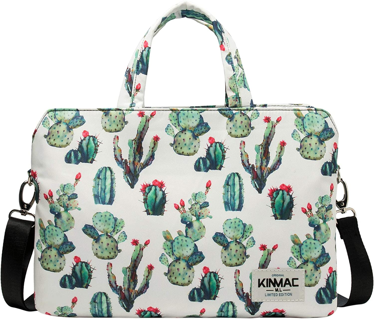Kinmac 360 Degree Protective Water Resistant Laptop Shoulder Messenger Sleeve Case Bag with All-Directional High Rebound Cushion(14 inch, Cactus)