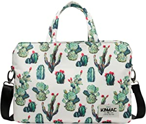Kinmac 360 Degree Protective Water Resistant Laptop Shoulder Messenger Sleeve Case Bag with All-Directional High Rebound Cushion(15 inch-15.6 inch, Cactus)