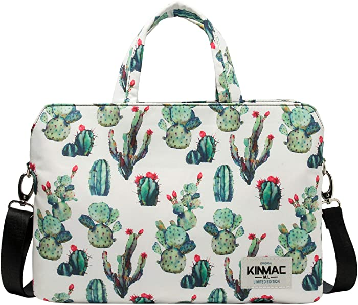 Kinmac 360 Degree Protective Water Resistant Laptop Shoulder Messenger Sleeve Case Bag with All-Directional High Rebound Cushion(11 inch-13.5 inch, Cactus)