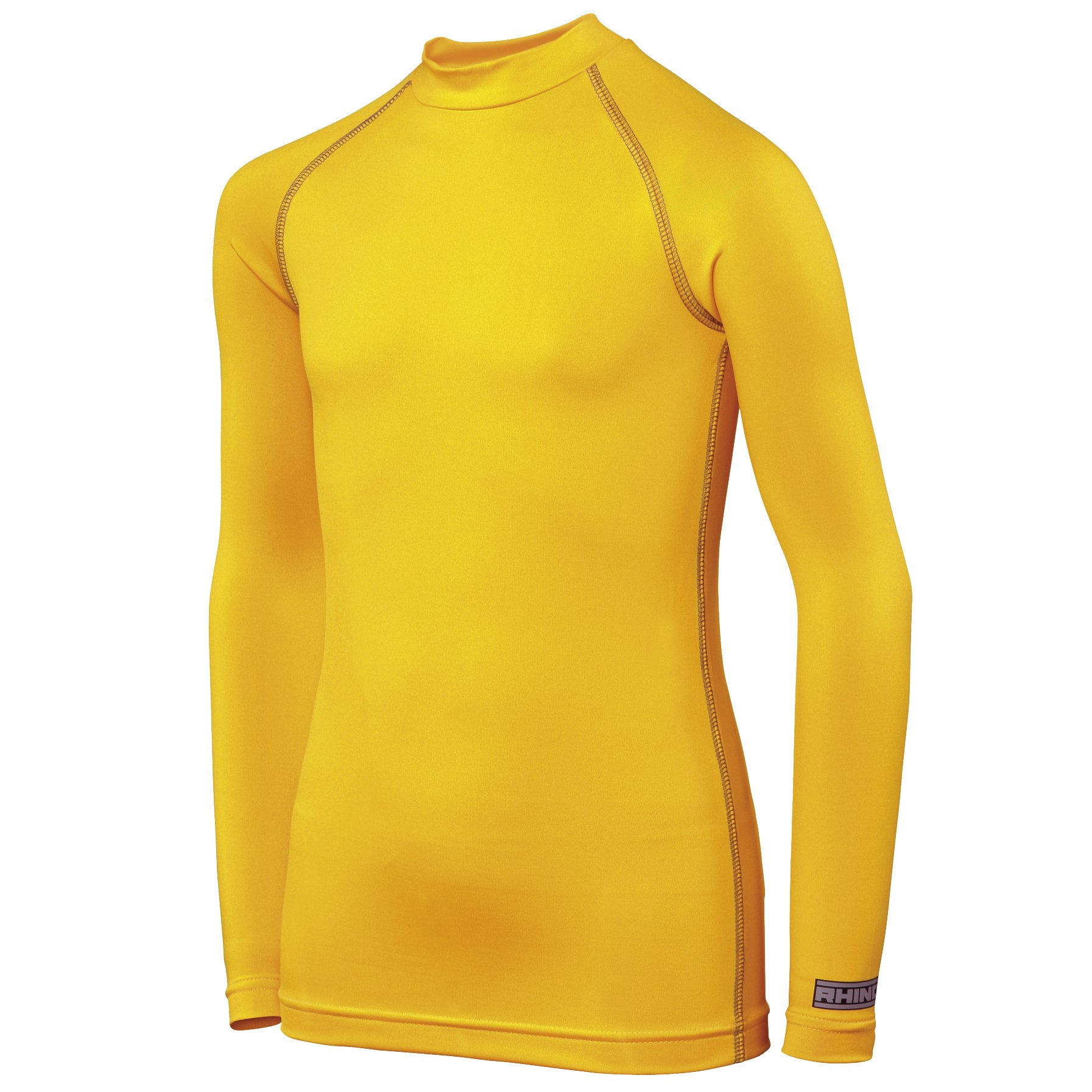 Rhino Childrens Big Boys Long Sleeve Thermal Underwear Base Layer Vest Top (LY-XLY) (Yellow) by Rhino