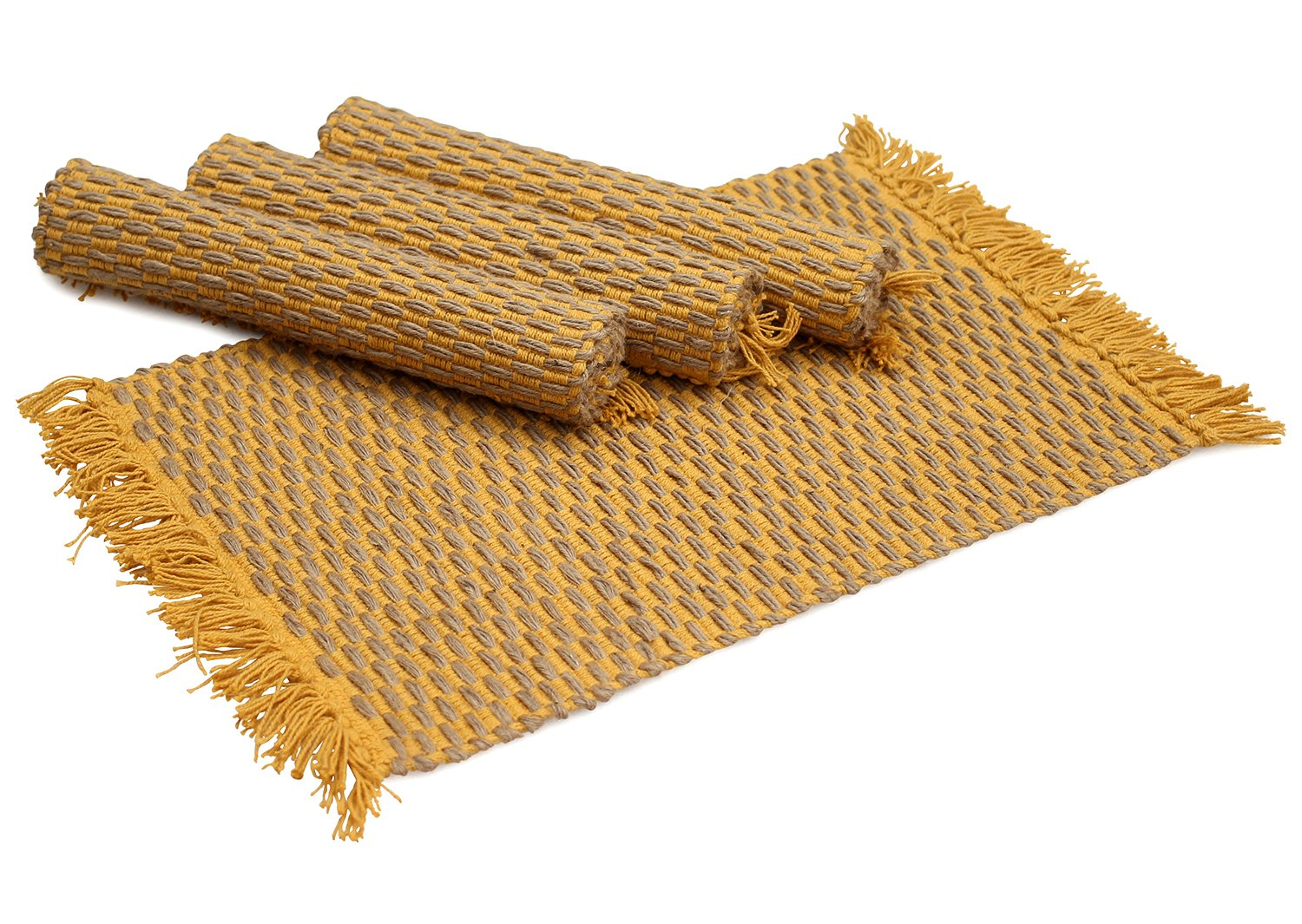 Amazon SouvNear Organic Burlap Place Mat Eco Friendly Placemats For Dining Table Decor Decorations Hand Woven Kitchen Mats Set Of 4 Home