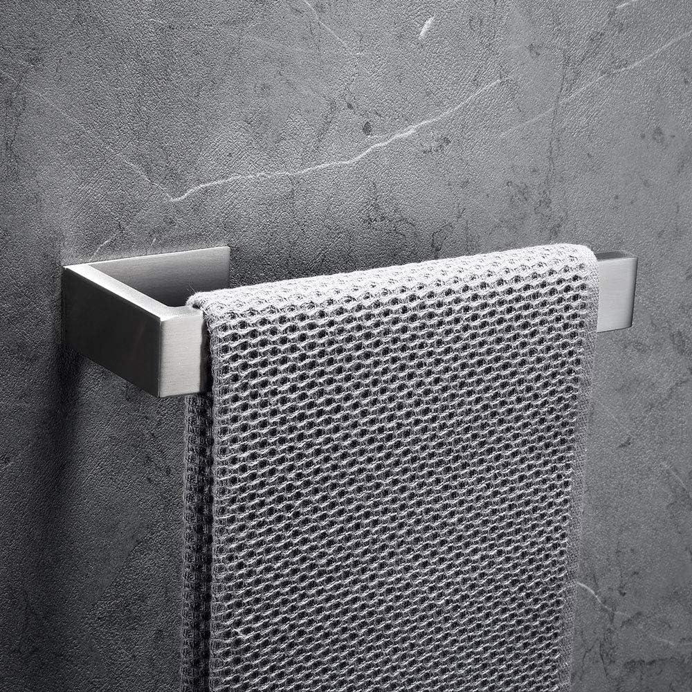 Porta Carta Igienica Homovater Accessori da bagno Autoadesivo inox 304 a parete Anelli Portasciugamani Ganci Portasciugamani Ganci Appendiabiti Spazzola.