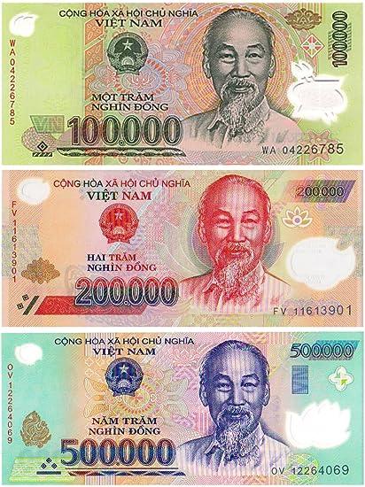 100,000 Vietnam Dong VND Note 10 Trillion Zimbabwe Dollars Banknote AA 2008 UNC