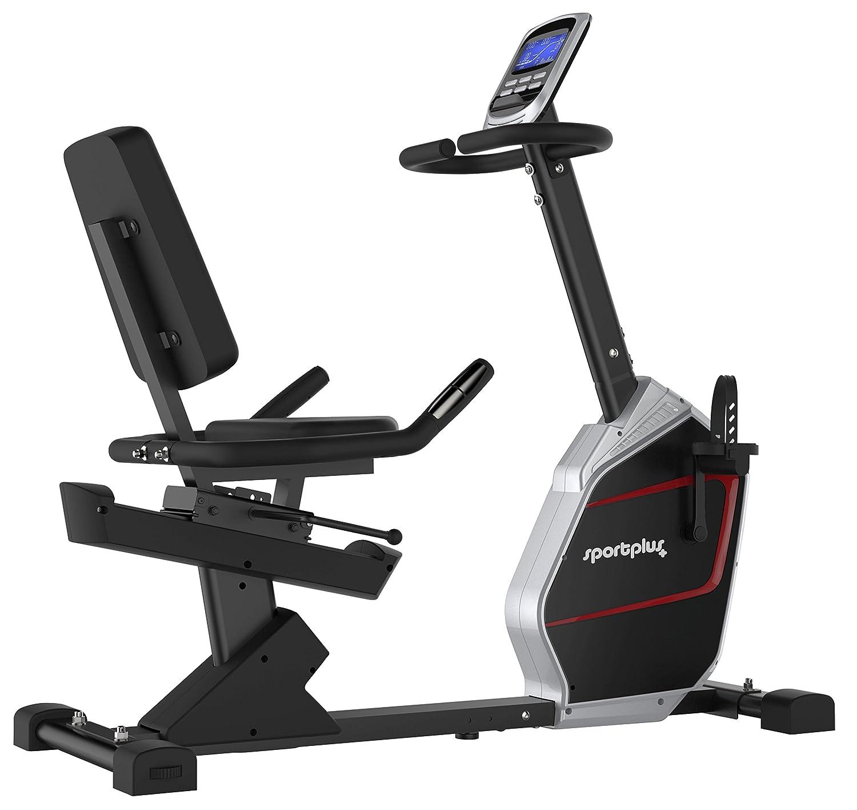 SportPlus Bicicleta Estática Reclinable con Aplicación para ...
