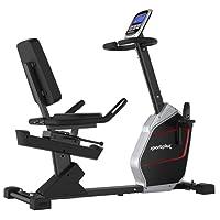 SportPlus - Vélo d'appartement / Ergomètre couché - Compatible App Cardiofit - Google Street View - Masse d'inertie env. 9kg - 24 Résistance - Poids de l'utilisateur jusqu'à 150kg - Sécurité testée