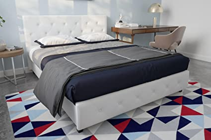 Amazon Com Dhp Dakota Faux Leather Upholstered Platform Bed Frame
