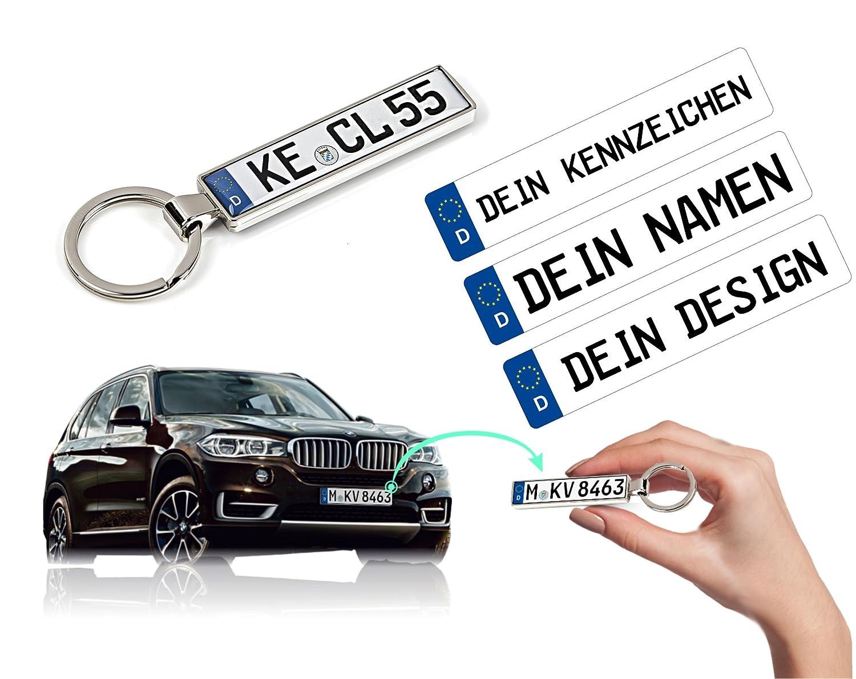Schlüsselanhänger mit Ihrem KFZ-Kennzeichen und TÜV Plakette ...