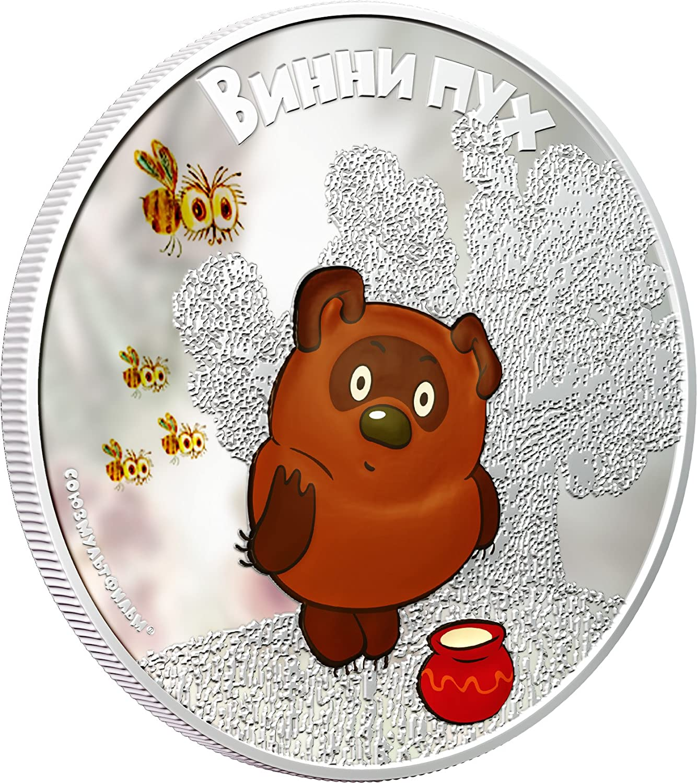 Cook Islands 2011 $5 Soyuzmultfilm Winnie-the-Pooh Rabbit 1 Oz Silver Proof Coin