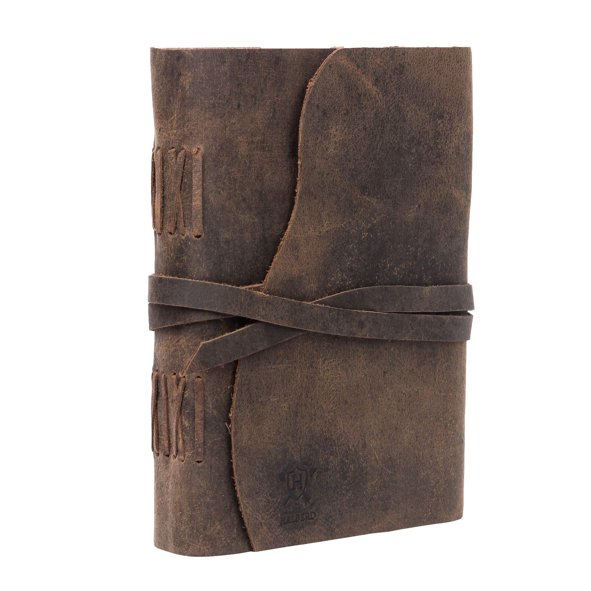 RUSTIC LEATHER JOURNAL Writing Notebook - Antique Handmade Leather Bound Daily Notepad For Men & Women Kraft Paper, Best Gift for Art Sketchbook, Travel Diary & Notebooks to Write