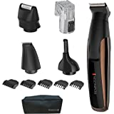 Remington PG6170 Crafter trim & Detail Kit, Men's Groomer, Beard Trimmer with Titanium-Coated Blades (12Piece), Copper